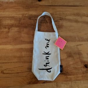 Kate Spade wine tote Drink me sold out NWT